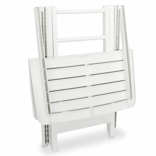 vidaXL 3 Piece Folding Bistro Set Balcony Set Patio Furniture White//Green