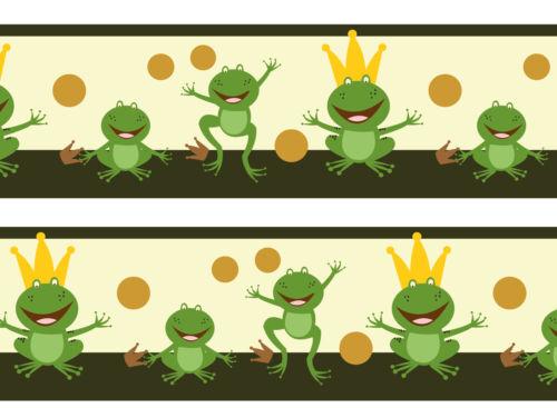 Bordure danser grenouilles GALON Papier Peint Bordure PASSEMENTERIES Borde wandborde Mar