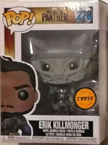Erik Killmonger Chase Bobble-Head Vinyl NEU 278 FUNKO POP Black Panther