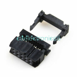 20PCS 2.54mm Pitch 2x5 Pin 10 Pin IDC FC Female Header Socket Connector FC-10