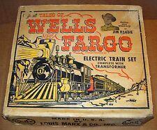 RARE MARX MAR TOYS TALES OF WELLS FARGO O-GUAGE TRAIN SET W/BOX ***WOW***