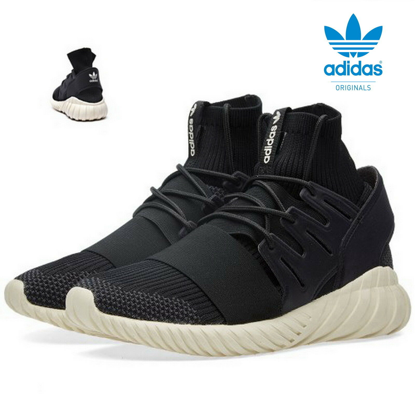 Adidas Tubular Doom Primeknit Sneaker Originals Turnschuhe UK-12 black S74921
