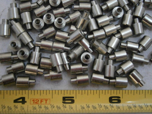 """Unicorp SS244-7E Swage Standoffs 1//4/"""" Round 4//40 Stainless Lot of 50 #3650"""