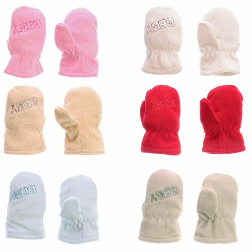 M XL 5 Children Autumn Winter Gloves Fleece Mittens Boys Girls 5,5-6