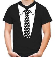 Krawatte T-shirt | Smoking | Fliege | Fasching | Karneval | Anzug | M3