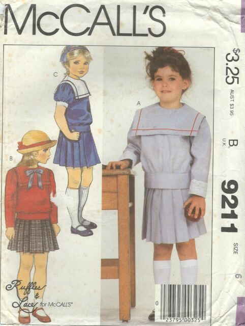 Uncut Size 12 McCalls 8906 80s Dress Vintage Sewing Pattern Pullover ...
