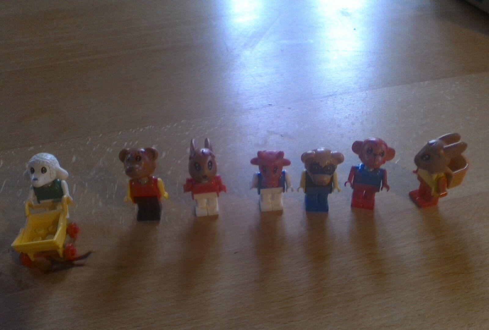 7 x Lego Fabuland Tiere Konvolut auch für Sammler und Liebhaber gebraucht