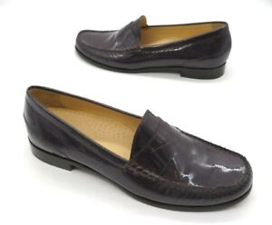 87e1ee9819c COLE HAAN Size 9 Purple Patent Leather Slip On Penny Loafer Shoes