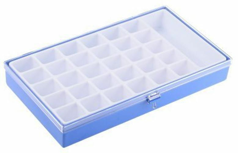 Licefa 31 Cell bluee, Transparent PS, Adjustable Compartment Box, 42mm x 295mm x