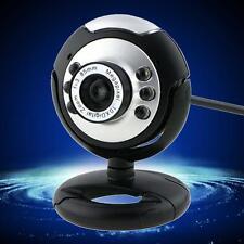 HD 12.0MP 6 LED USB Webcam Fotocamera con microfono Visione Notturna per Desktop