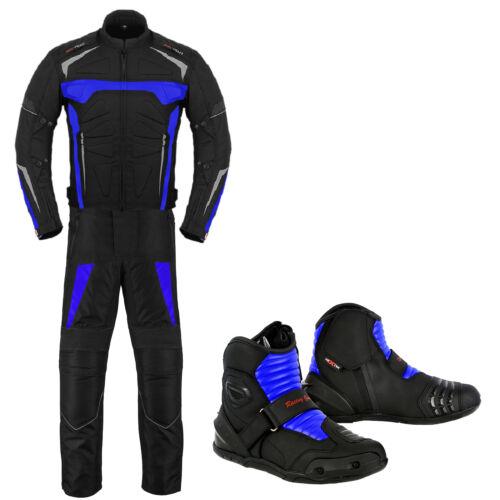 Motorbike Racing Suit Jacket Trouser Leather Boot Motorcycle Waterproof Clothing