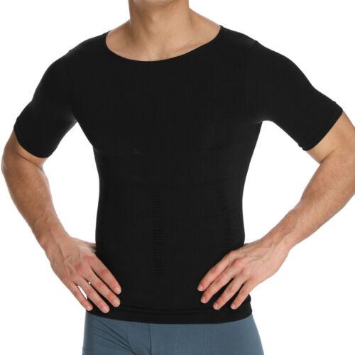 Men Slimming Body Shaper Gynecomastia Vest Shirt Tank Top Compression T-Shirt US
