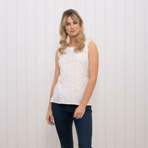 NEW! Brakeburn Ladies Sleeveless Frill Blouse