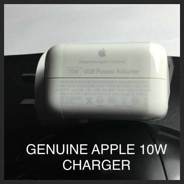 GENUINE APPLE 10W Wall Charger Adapter for Apple iPad 4 Air 3  iPhone 6 Plus 5S