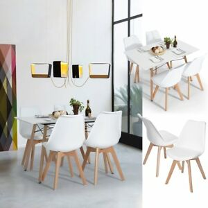Fine Details About 2 4 6 8 Wooden Dining Office Lounge Chairs White Pu Faux Leather Kitchen Chairs Pabps2019 Chair Design Images Pabps2019Com