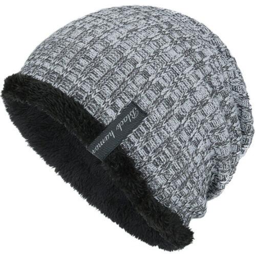 Männer Damen Winter Unisex Gestrickte Wolly Beanie Mütze Freizeit Slouch Ski Cap
