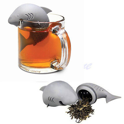 New Silicone Shark Infuser Loose Tea Leaf Strainer Herbal Spice Filter Diffuser