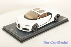 Details about Bugatti Chiron Sky View Glacier White, Limited 99 pcs MR 1/18