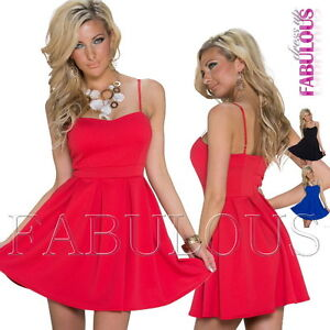 New-European-Padded-Summer-Mini-Dress-Party-Casual-Clubbing-Wear-Size-6-8-XS-S