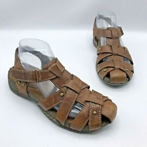 Bare-Traps-Women-Brown-Closed-Toe-Sandal-Shoe-Size-9-5-Pre-Owned