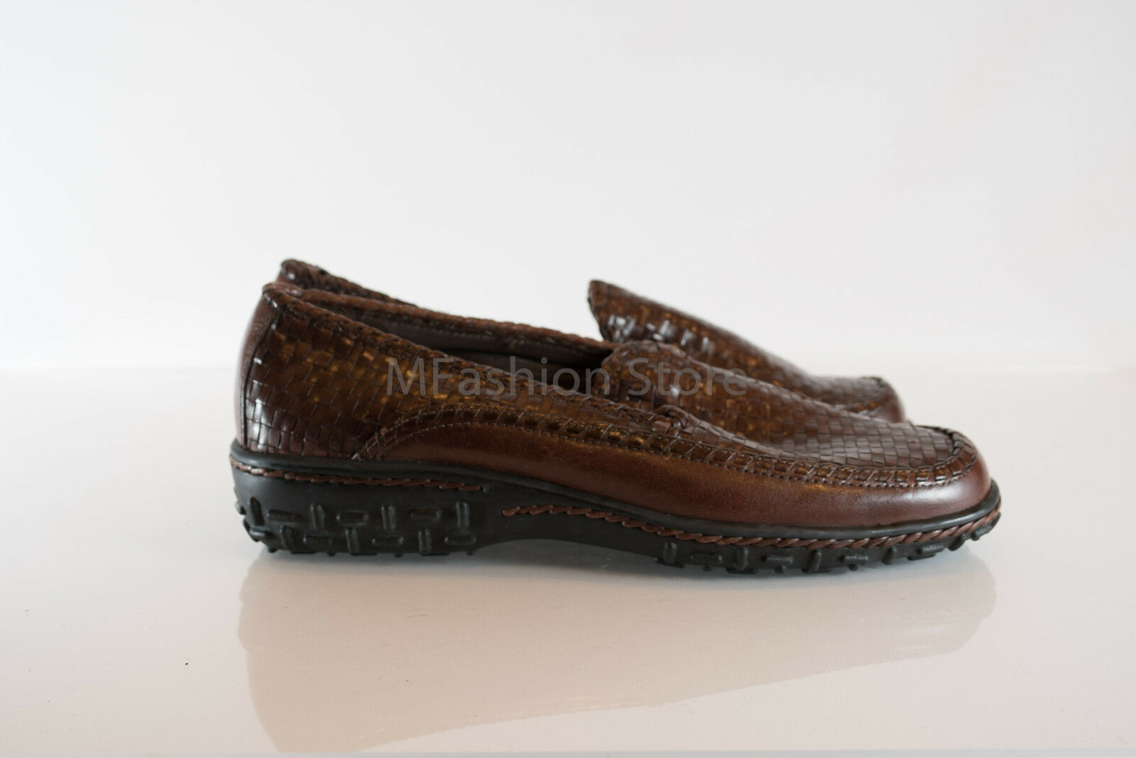 Cole Haan Haan Haan Brown Leather Slip On Moc Toe Loafer Casual Size US 6.5B New 53e25c