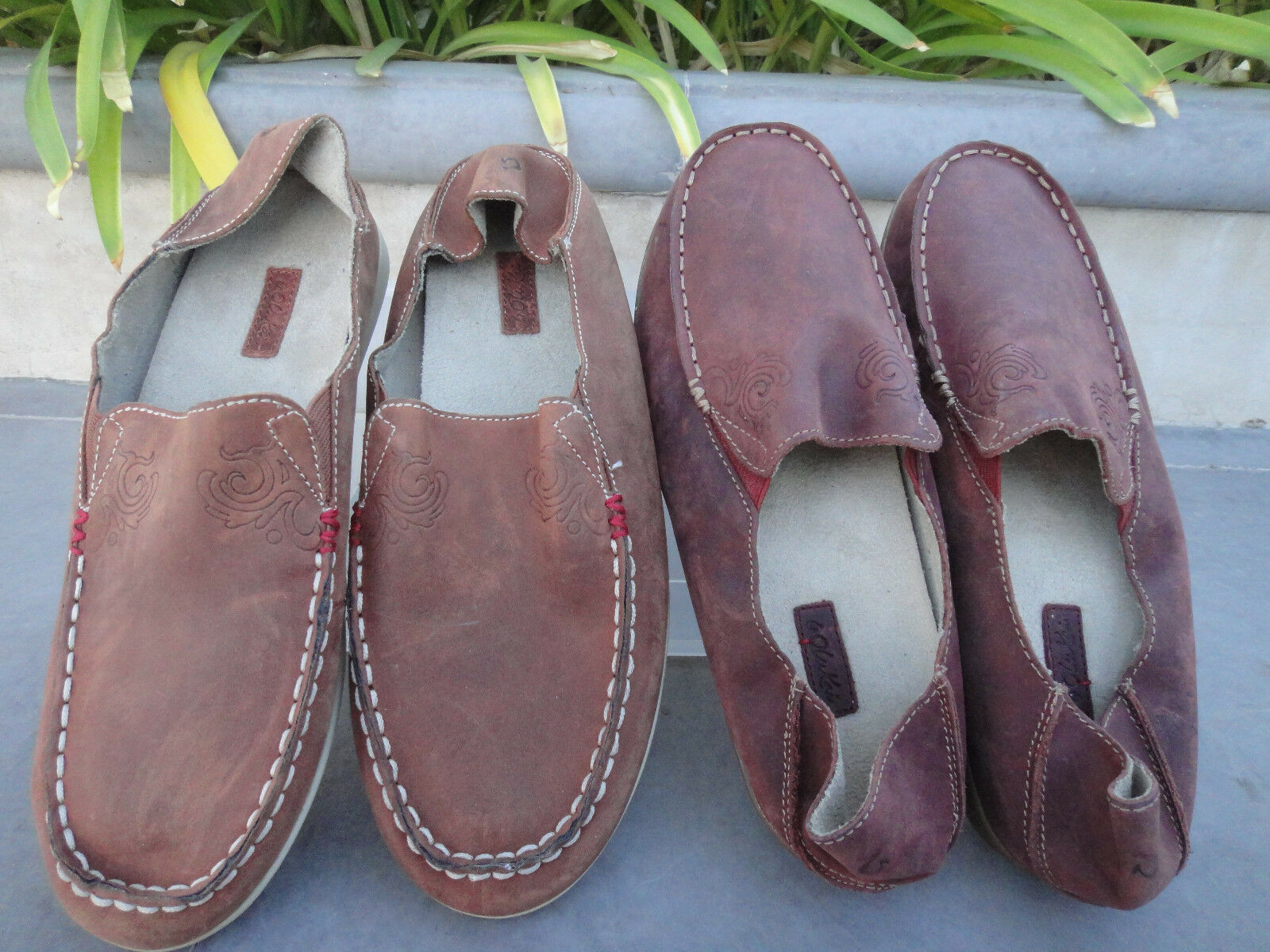 OluKai NOHEA NUBUCK NUBUCK NUBUCK Leather Slip on w Drop in Heel rosso Clay or Koa MSRP  110 d80db4