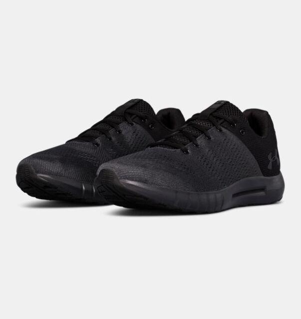 a8b0e089acc07 Under Armour Mens UA Micro G Pursuit Running Shoes Mens Blackout Shoes