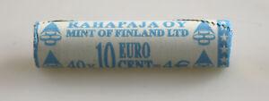 KMS-Set-Monete-Rotolo-10-Cent-Finlandia-2001-Non-Aperto-Ruolo-Vista