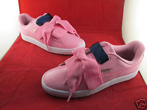 puma heart basket rosa