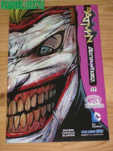 Batman #17 DC New 52 WonderCon 2013 Variant DEATH OF THE FAMILY Joker NM