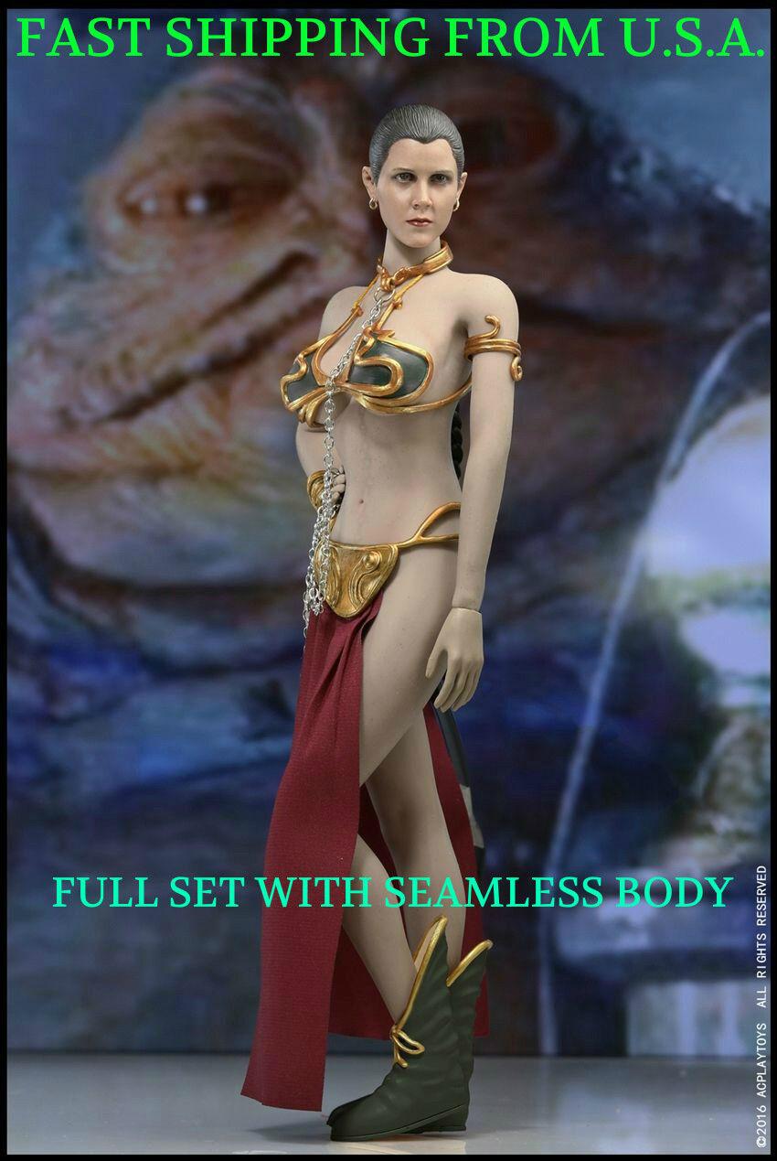 1/6 Scale Star Wars Princess Leia Organa Slave Seamless Figure Full Set ❶USA❶