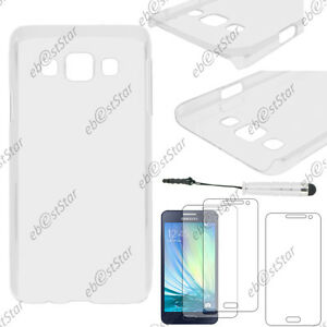 Coque Housse Etui Rigide Transparent Samsung Galaxy +mini Stylet+3 Films
