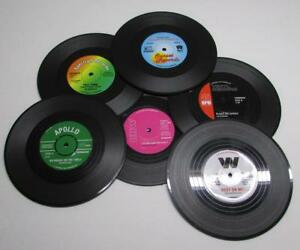 Details about 6pc Vintage Vinyl Record COASTERS Cup Pad Coffee Table Mats  Bar NEW