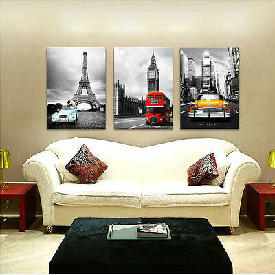 NYC Paris London easy hang picture//mounted wall art//better than stretched canvas