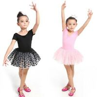 Girls Party Leotards Costume Kids Ballet Tutu Skirt Dance Dress Skating 3-7Y M49