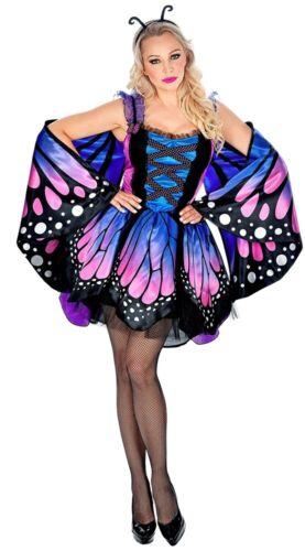 Damen Karneval Fasching Verkleidu Märchen Schmetterling Damenkostüm Deluxe NEU
