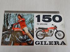 BROCHURE DEPLIANT ORIGINALE GILERA 150 5V ARCORE 1972