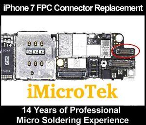 more photos 85a8e 3a8d4 Details about Apple IPHONE 7 HOME BUTTON Finger Sensor FPC CONNECTOR SOCKET  Replacement Repair