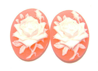Cab Cabochon Cameo Mix Lady Rose Flower Skull Oval, 25x18mm 25x20mm, MANY COLORS