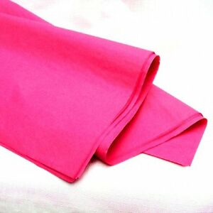 """25 x PINK SHEETS OF ACID FREE TISSUE WRAPPING PAPER SIZE 450 X 700MM 18 X 28"""" 3332422983270"""