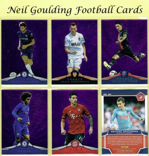Panini TREBLE SOCCER 2018-2019 ☆ PURPLE PARALLEL ☆ Football Cards #//49