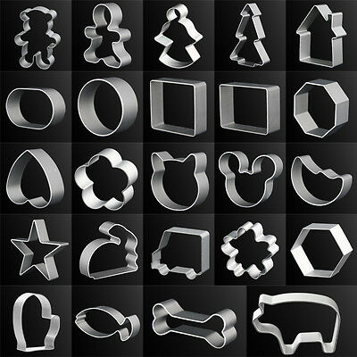 29 Styles Cookie Cake Chocolate Mold Jelly Metal Cutter Tin Mould Baking DIY