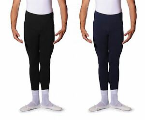 ROCH-VALLEY-Mens-and-Boys-Cotton-Lycra-Stirrup-Leggings-Dance-Ballet-Black-Navy