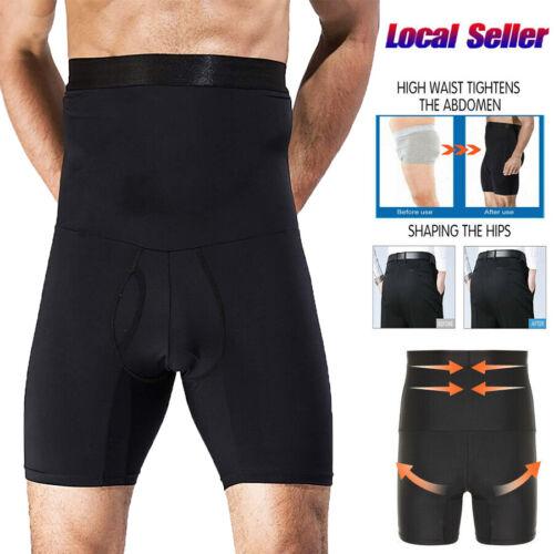 Men Compression High Waist Slim Shorts Tummy Body Contour Shaper Girdle Pants UK