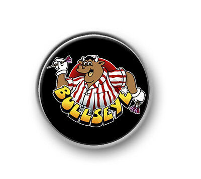 Let/'s Play Darts 1 Inch 25mm Pin Button Badge Roses On The Oche 180 Bullseye