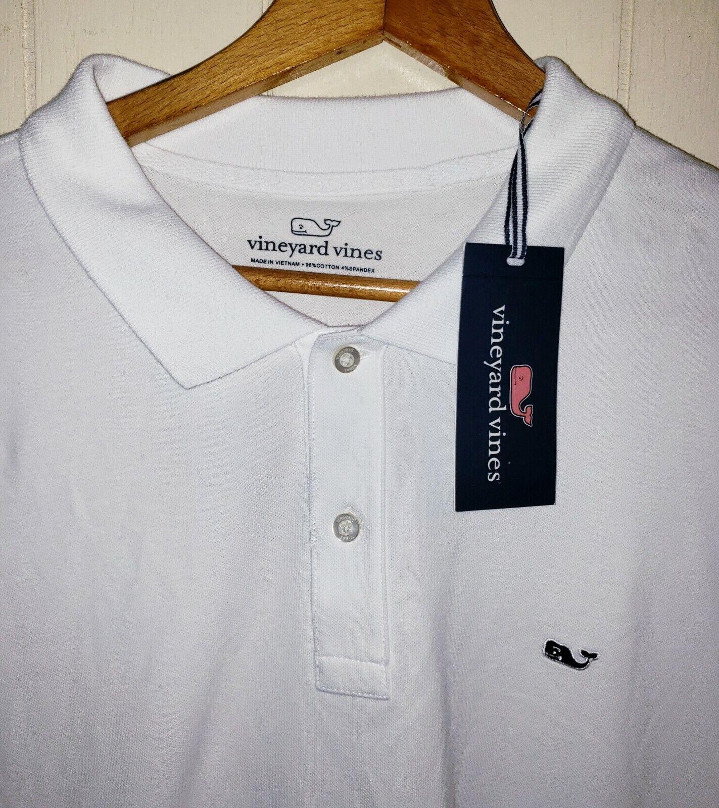 Vineyard Vine Long Sleeve Polo Shirt Mens XL NWT  White
