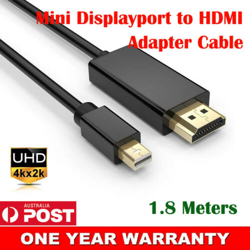 Premium Mini Displayport MDP Male to HDMI Male Adapter Cable M//M Cord 4K*2K HD