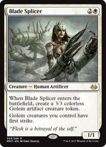BLADE SPLICER Modern Masters 2017 MTG White Creature — Human Artificer Rare
