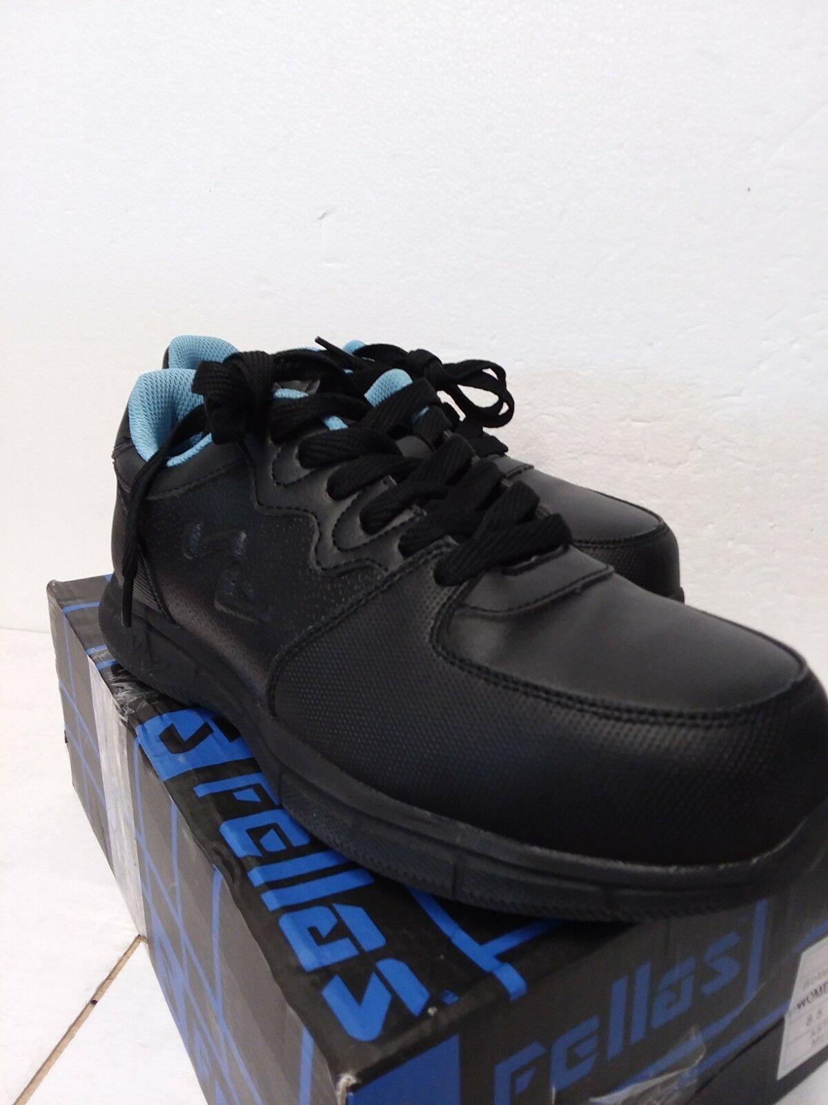 S Fellas Genuine Grip Slip Resistant Steel Toe Work shoes Black Womens 8.5