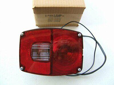 Stop Turn Tail Lamp Metal Housing Custom Rat Rod Universal Taillight Assembly